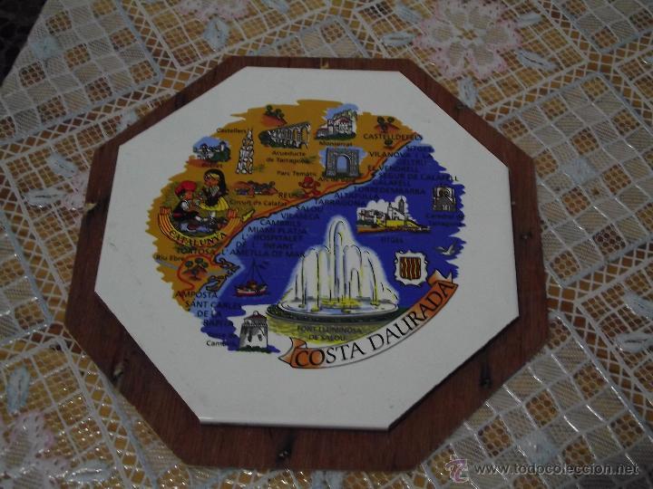 AZULEJO OCTOGONAL COSTA DAURADA 20X20 (Vintage - Decoración - Porcelanas y Cerámicas)