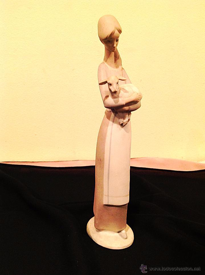 Vintage: Figura Joven Con Oveja / Figura De Porcelana NAO Medidas 26cm - Foto 2 - 51995298