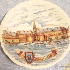 Vintage: PLATO IMAGEN SAINT MALO, FRANCIA, PORCELANA NEM. Lote 52008405