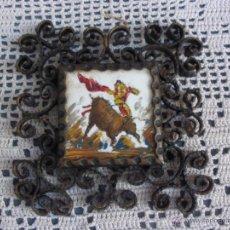 Vintage: RESERVADO R TORO TAURINO TORERO TOREANDO PINTADO A MANO OLEO. Lote 55029783