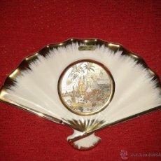 Vintage: ABANICO DE CERAMICA JAPONESA DE CHOKIN. Lote 52343613