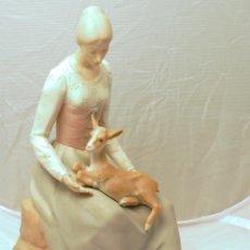 Vintage - Figura porcelana mujer - 52810971