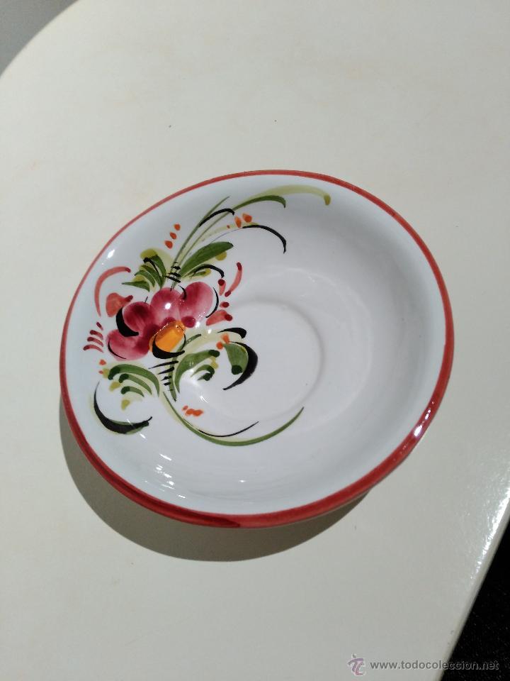 Vintage: pequeño plato o cuenco decorativo. pintado a mano. flores - Foto 3 - 52975689
