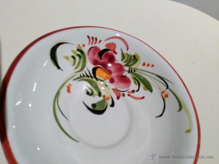 Vintage: pequeño plato o cuenco decorativo. pintado a mano. flores - Foto 4 - 52975689