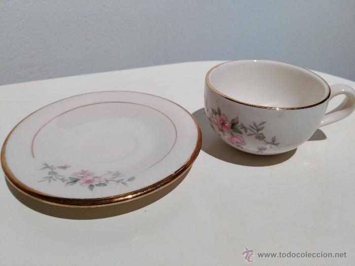 Vintage: precioso conjunto de plato y taza. hecho en mexico - Foto 2 - 52976878