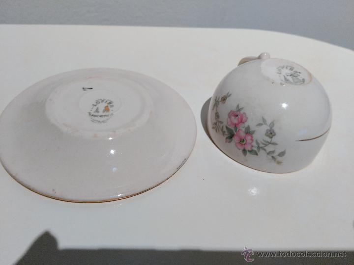 Vintage: precioso conjunto de plato y taza. hecho en mexico - Foto 3 - 52976878