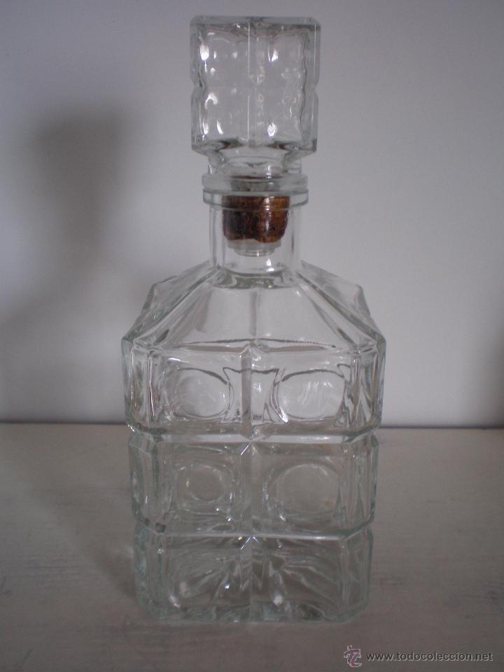 BOTELLA CRISTAL LICOR VINTAGE ANTIGUA (Vintage - Decoración - Cristal y Vidrio)