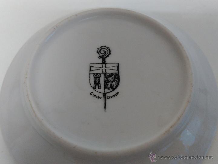 Vintage: plato pequeño decorativo con escudo de soria. sello cister oviedo - Foto 5 - 233097960