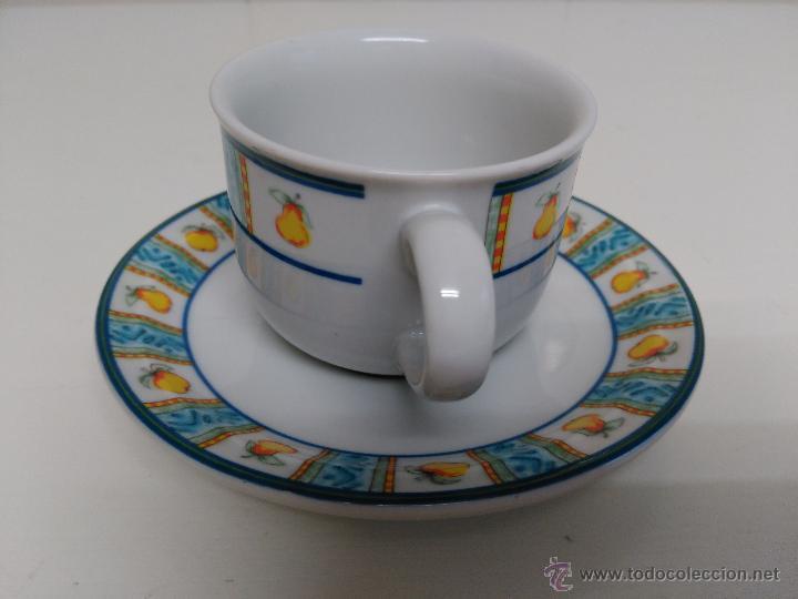 Vintage: Juego de taza y plato de porcelana. Marca Sandra Rich porcelana collection - Foto 2 - 53218477