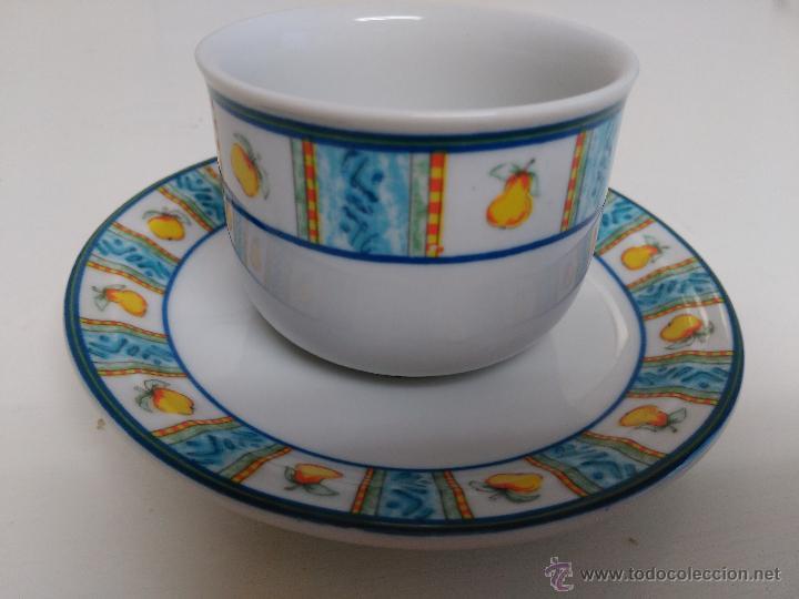 Vintage: Juego de taza y plato de porcelana. Marca Sandra Rich porcelana collection - Foto 3 - 53218477