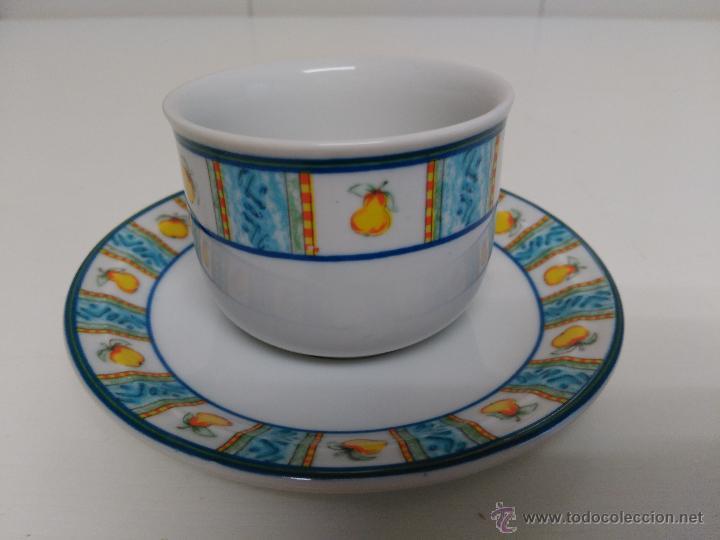 Vintage: Juego de taza y plato de porcelana. Marca Sandra Rich porcelana collection - Foto 4 - 53218477