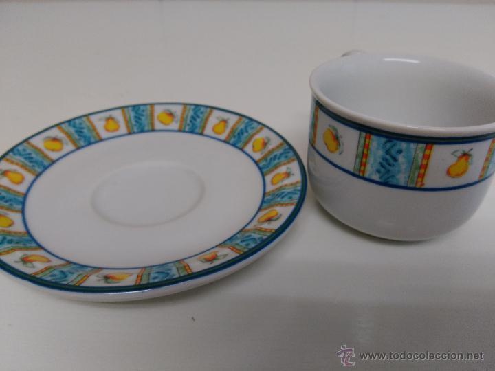 Vintage: Juego de taza y plato de porcelana. Marca Sandra Rich porcelana collection - Foto 5 - 53218477
