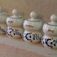 Vintage: 4 TARROS DE COCINA EN PORCELANA DE CAPEANS. Lote 53230098