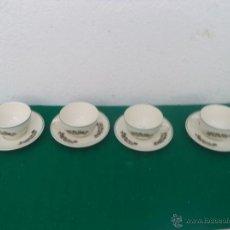 Vintage: 4 TAZAS Y PLATO. Lote 53239085