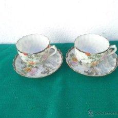 Vintage: 2 TAZAS Y PLATOS ORIENTALES. Lote 53256142