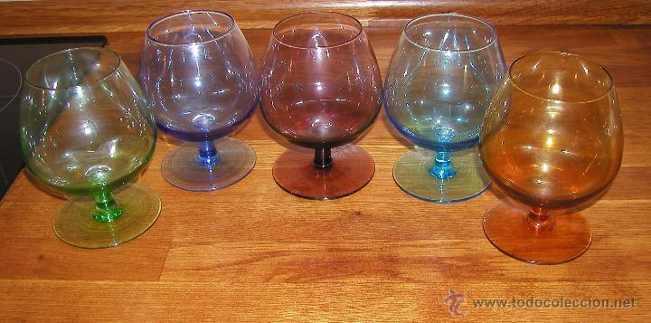 Cinco grandes y preciosas copas de cristal de c comprar - Comprar decoracion vintage ...
