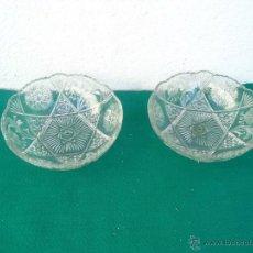 Vintage: 2 CUENCOS CRISTAL TALLADOS. Lote 53374067