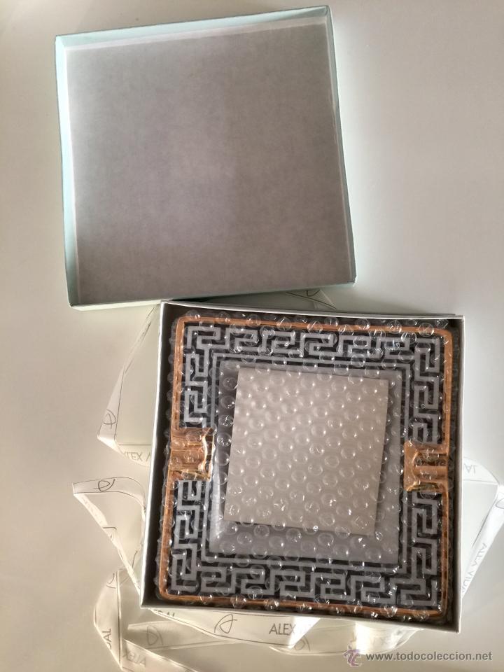 Vintage: Objet/cenicero exclusivo y numerado diseñado por ALEX VIDAL en cerámica decorado oro 17cm cuadrado - Foto 2 - 53560982