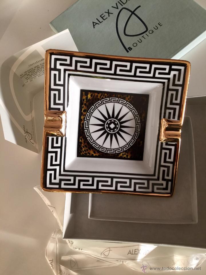 Vintage: Objet/cenicero exclusivo y numerado diseñado por ALEX VIDAL en cerámica decorado oro 17cm cuadrado - Foto 3 - 53560982
