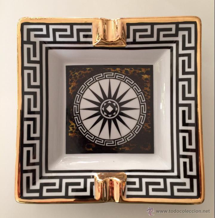 Vintage: Objet/cenicero exclusivo y numerado diseñado por ALEX VIDAL en cerámica decorado oro 17cm cuadrado - Foto 4 - 53560982