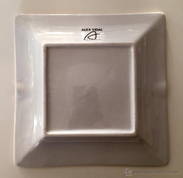 Vintage: Objet/cenicero exclusivo y numerado diseñado por ALEX VIDAL en cerámica decorado oro 17cm cuadrado - Foto 5 - 53560982