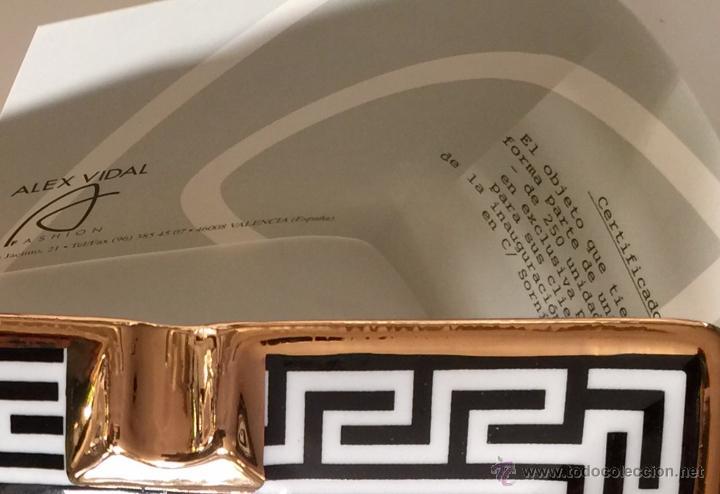 Vintage: Objet/cenicero exclusivo y numerado diseñado por ALEX VIDAL en cerámica decorado oro 17cm cuadrado - Foto 6 - 53560982