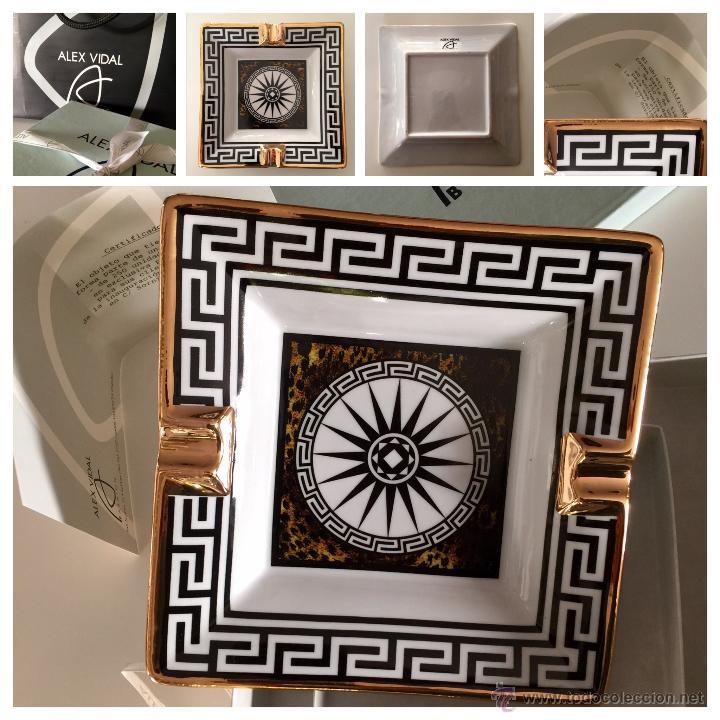 Vintage: Objet/cenicero exclusivo y numerado diseñado por ALEX VIDAL en cerámica decorado oro 17cm cuadrado - Foto 12 - 53560982