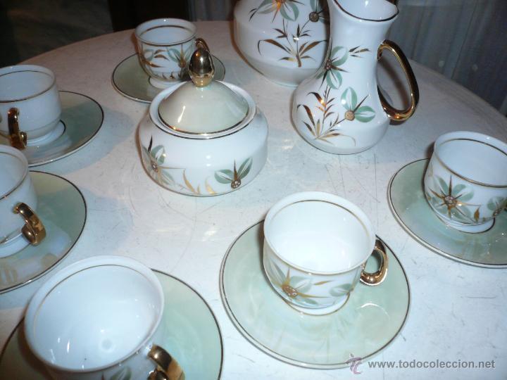 JUEGO DE CAFÉ COMPLETO MARCA APEAN SEIS SERVICIOS. SIN FALTAS (Vintage - Decoración - Porcelanas y Cerámicas)