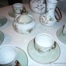 Vintage: JUEGO DE CAFÉ COMPLETO MARCA APEAN SEIS SERVICIOS. SIN FALTAS. Lote 53774993