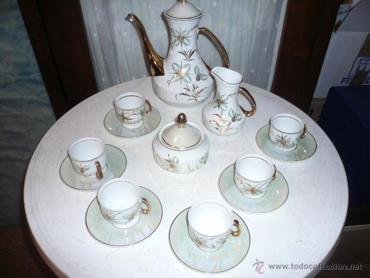 Vintage: JUEGO DE CAFÉ COMPLETO MARCA APEAN SEIS SERVICIOS. SIN FALTAS - Foto 4 - 53774993