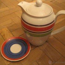 Vintage: ROSENTHAL--CAFETERA PORCELANA VINTAGE DESIGNERS GUILD INGLESA--BONE CHINA+ PLATO. Lote 53987228