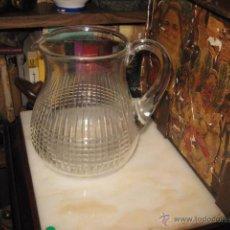 Vintage: ANTIGUA JARRA DE AGUA CRISTAL TALLADO MEDIDA 17 X 17 CM. BUEN ESTADO. Lote 54140460