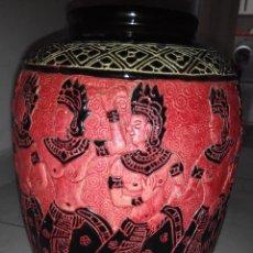 Vintage: PAREJA DE JARRONES INDIOS ( INDIA ). Lote 54212717