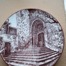 Vintage: PLATO FIRMADO IGLESIA SANTPEDOR BARCELONA. Lote 54285049