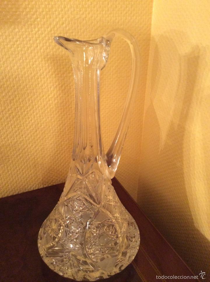JARRA DE CRISTAL TALLADO (Vintage - Decoración - Cristal y Vidrio)