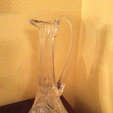 Vintage: JARRA DE CRISTAL TALLADO. Lote 55146963