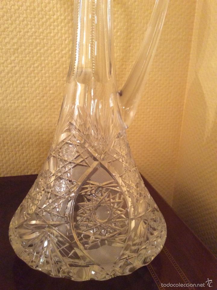 Vintage: Jarra de cristal tallado - Foto 2 - 55146963