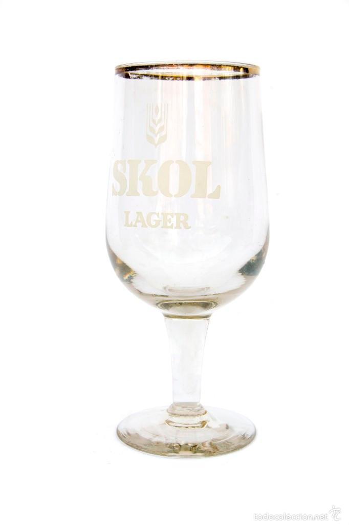Copa Gigante De Cerveza Skol Lager Años 60