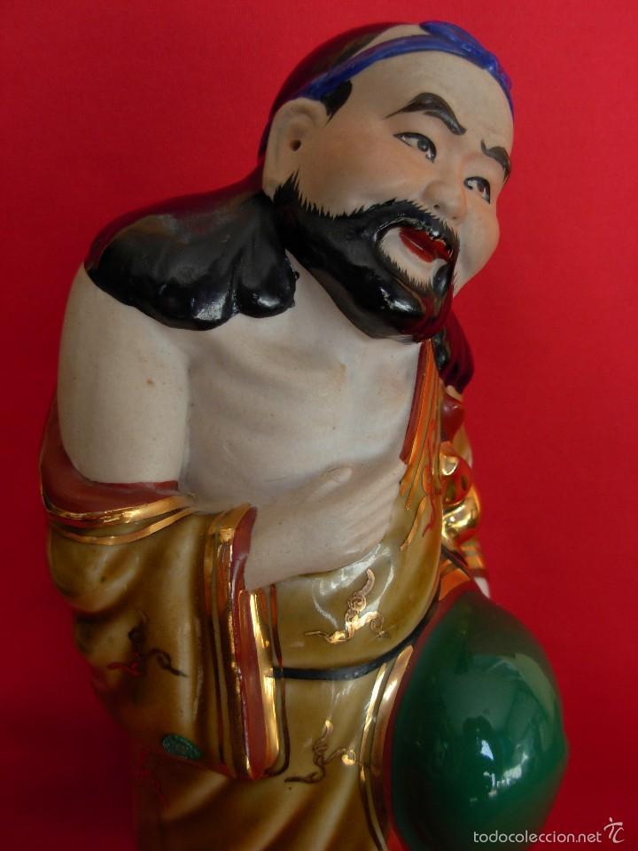 Vintage: Vintage escultura china de porcelana policromada - Foto 7 - 55693243