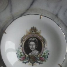Vintage: PLATO DE PORCELANA CHINA - QUEEN ELISABETH II , SILVER JUBILEE .. Lote 55729948