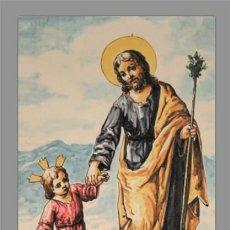 Vintage: AZULEJO 20X30 DE SAN JOSÉ CON EL NIÑO JESÚS. Lote 82081323
