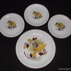 Vintage: PONTESA - LOTE 4 PLATOS PONTESA IROSTONE CHINAMODA. Lote 56027543
