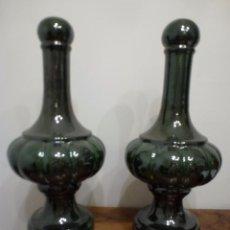 Vintage: PAREJA DE JARRONES-PIE DE LAMPARA. AÑOS 70, SIN USO.(ARTESPAÑA). Lote 56201093