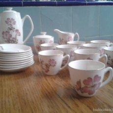 Vintage: JUEGO DE CAFÉ 9 SERVICIOS IBERO TANAGRA SANTANDER. Lote 56315115