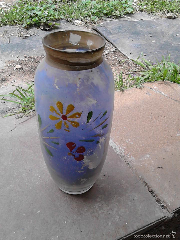 JARRON CRISTAL COLORIDO (Vintage - Decoración - Cristal y Vidrio)