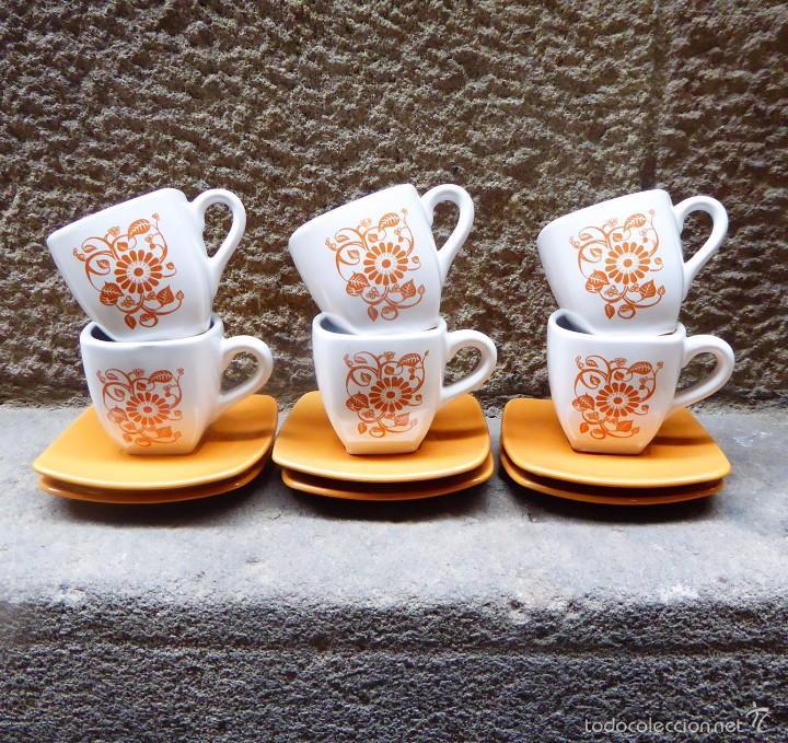 JUEGO DE CAFÉ VINTAGE, AÑOS 60/70 (Vintage - Decoración - Porcelanas y Cerámicas)