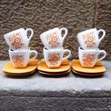Vintage: JUEGO DE CAFÉ VINTAGE, AÑOS 60/70. Lote 56435712