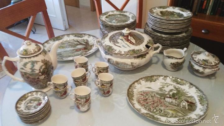 Vajilla johnson brothers 66 piezas comprar porcelana y cer mica vintage en todocoleccion - Johnson brothers vajilla ...