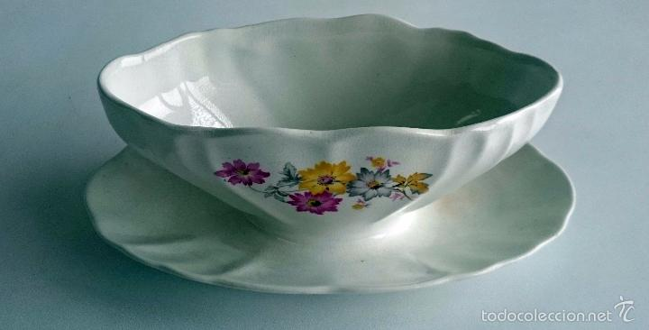 SALSERA PORCELANA SAN CLAUDIO. (Vintage - Decoración - Porcelanas y Cerámicas)