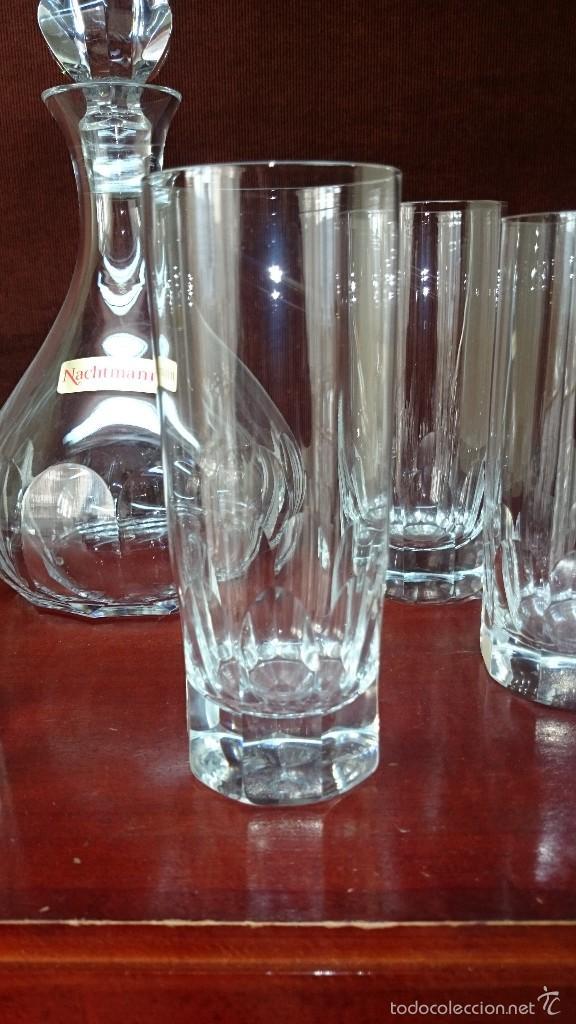 Vintage: Juego de botella y 6 vasos de cristal - Foto 2 - 56702089